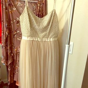 Needle & Thread tulle and bead dress